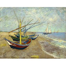 'Fishing Boats' by Vincent Van Gogh Painting Print on Canvas