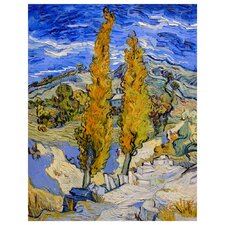 'Two Poplars on A Road' by Vincent Van Gogh Painting Print on Canvas