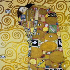 'The Embrace' by Gustav Klimt Painting Print on Canvas