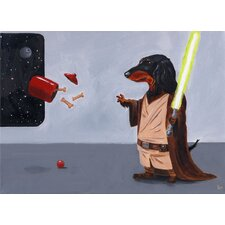'Dach Jedi' by Brian Rubenacker Graphic Art on Canvas