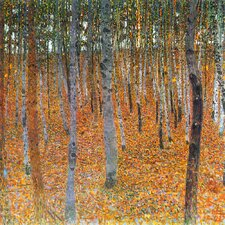 'Beech Grove' by Gustav Klimt Painting Print on Canvas