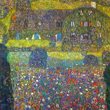 'Country House by the Attersee' by Gustav Klimt Painting Print on Canvas