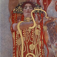 'Hygeia' by Gustav Klimt Painting Print on Canvas