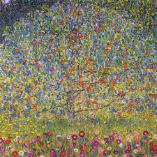 'Apple Tree' by Gustav Klimt Painting Print on Canvas