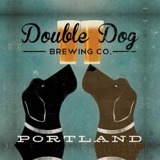 'Double Dog Brewing Co.' by Ryan Fowler Graphic Art on Canvas