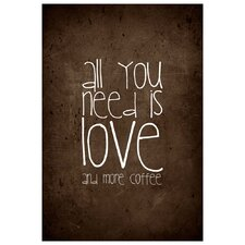'Coffee Love' by Monika Strigel Textual Art on Canvas