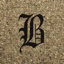 Vintage Burlap Monogram Graphic Art