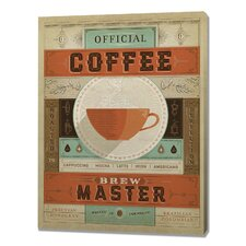 Coffee Brew Master Graphic Art on Canvas