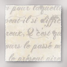 Rich Script French Writing I Textual Art on Canvas