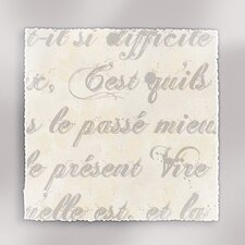 Rich Script French Writing III Textual Art on Canvas