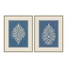 Paisley Wall Art Collection in Blue