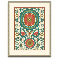 Uzbekistan Pattern 6 Framed Graphic Art