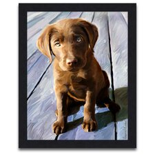 <strong>Epic Art</strong> Chocolate Lab Gus Wall Art