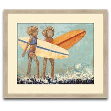 Bikini Surf Framed Original Paintings