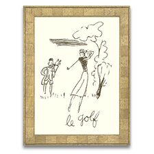 A Sporting Try Le Golf Wall Art