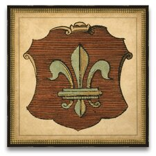 <strong>Epic Art</strong> Honored Heritage Fleur De Lis Shield Wall Art