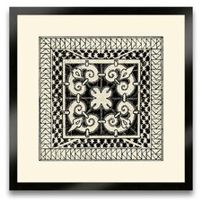 The Pretty Pantile Small Tile IV Framed Graphic Art