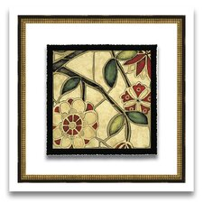 Patterns of Passion Floral Mosaic IV Framed Graphic Art