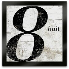 French Number 8 Framed Graphic Art