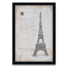 <strong>Epic Art</strong> Tour d'Europa Eiffel Postcard Wall Art