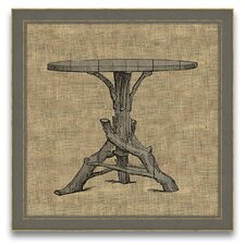 <strong>Epic Art</strong> Antique Elements Fois Bois Table Wall Art