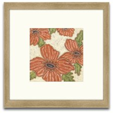 <strong>Epic Art</strong> Patterns of Passion Persimmon Floral II Wall Art