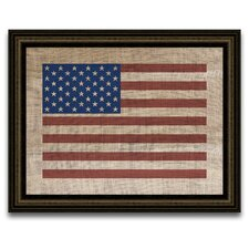 <strong>Epic Art</strong> The Vintage Patriot American Flag Wall Art