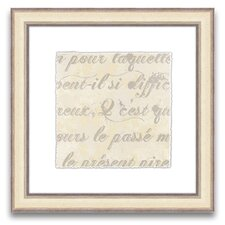 <strong>Epic Art</strong> Rich Script French Writing I Wall Art
