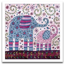 Playroom Bliss Elephant Walk Framed Art