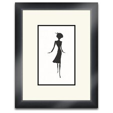 Lady Silhouette II Framed Graphic Art