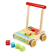 <strong>Classic Toy</strong> Baby Walker with 28 Blocks