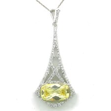 Canary Sterling Silver Cubic Zirconia Pave Pendant