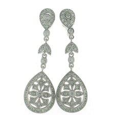 Art Deco Pear Drop Earrings