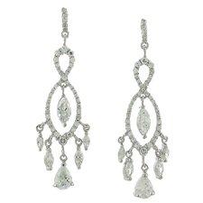 Cubic Zirconia Elegant Chandelier Drop Earrings
