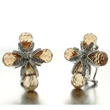 <strong>Splendor Jewelry</strong> Cubic Zirconia Cross Earrings