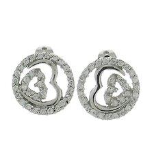 Double Hearts Stud Earrings