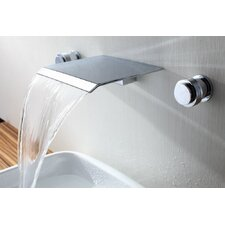 <strong>Sumerain International Group</strong> Double Handle Wall Mount Waterfall Bathroom Sink Faucet
