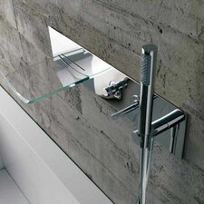 Single Handle Wall Mount Waterfall Tub Faucet with Handshower