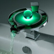 <strong>Sumerain International Group</strong> Single Handle Deck Mount LED Waterfall Bathroom Sink Faucet