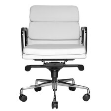 Clyde Low-Back Leather Office Chair