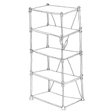 "Pipe Frame 74.5"" H 5 Shelf Shelving Unit"