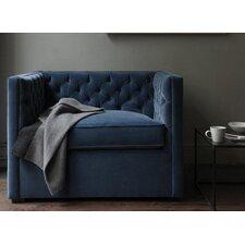 Mercer Tufted Devon Linen Club Chair