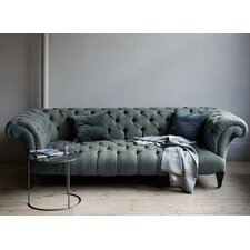 Chesterfield Mulberry Velvet Sofa