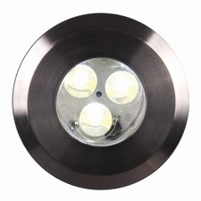 Fusion LED Plain Ring In-Ground 3 Light Deck Light