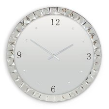 Deco II Mirror Glass Clock