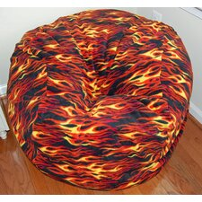 Hot Rod Anti-Pill Fleece Bean Bag Chair