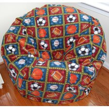 All Star Sports Anti-Pill Fleece Bean Bag Chair