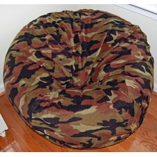 Camouflage Anti-Pill Fleece Bean Bag Chair