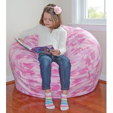 Pink Camouflage Anti-Pill Fleece Bean Bag Chair