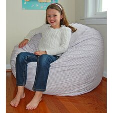 <strong>Ahh! Products</strong> Gingham Check Cotton Bean Bag Chair